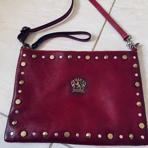 Praiesi Firenzi red leather purse/clutch